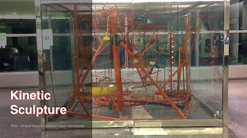 Kinetic Sculpture At Logan Airport