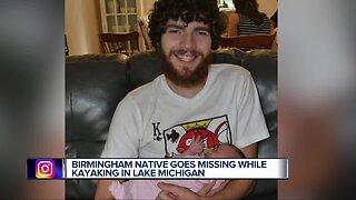 Birmingham native missing after kayaking in Lake Michigan