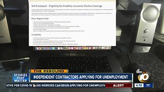 Independent contractors applying for unemployment