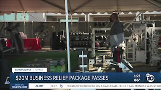 San Diego leaders approve $20M in business relief