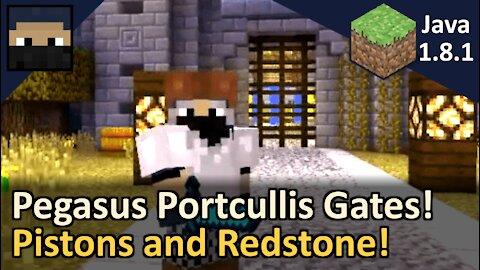 Pegasus Portcullis Piston Gate Hub! Minecraft Java 1.8.1