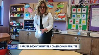 Ken-Ton School District using high-tech sprayers in classrooms to fight COVID-19