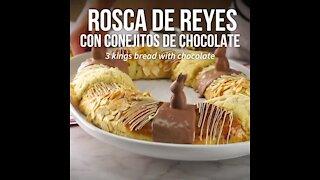 Rosca de Reyes with Chocolate Bunnies