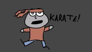 Unexpected Karate Girl