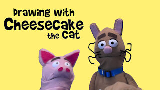 Drawing with Cheesecake the Cat and Friend