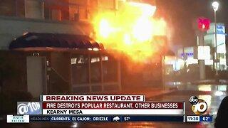 Popular Kearny Mesa restaurant destroyed by fire