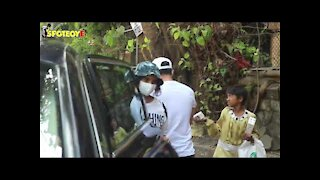 Rajkummar Rao with Girlfriend patralekha spotted at a Restaurant | SpotboyE