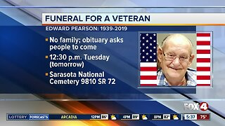 People asked to attend SWFL Veteran's funeral