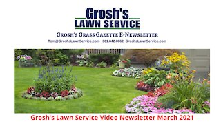 Grosh's Lawn Service Video E Newsletter March 2021