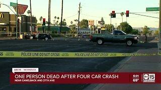 Multi-vehicle crash leaves 1 dead near 27th Ave & Camelback