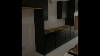 Cabinet install : Kitchen before and after