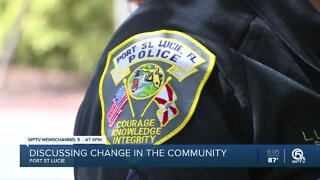 Discussing change in the community with Port St. Lucie police