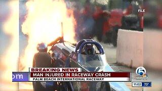 Man injured in crash at Palm Beach International Raceway