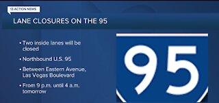 Traffic alert for US 95 in Las Vegas
