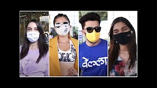 Nora Fatehi, Tina Dutta, Maniesh Paul & Saiee Manjrekar spotted at the Airport   SpotboyE