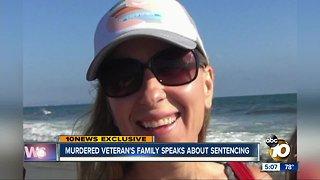 Murdered veteran's family speaks about sentencing