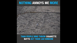 Cigarette butts car window [GMG Originals]