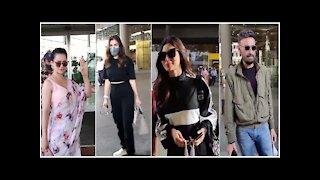 Mouni Roy, Kangana Ranaut, Sophie Choudry & Rahul Dev snapped at the Airport