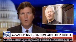 Tucker Breaks Internet With Monologue On Julian Assange Pardon