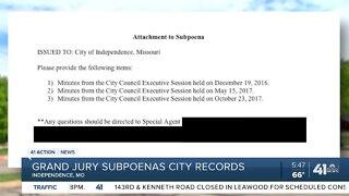 Grand jury subpoenas city records