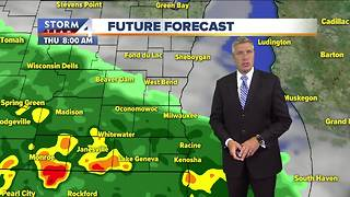 Showers ending, mostly cloudy Wednesday night