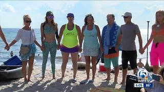 """Paddle out ceremony held for """"Ace"""" in Delray Beach"""
