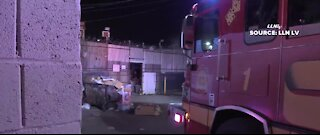 Las Vegas firefighters battle thrift store fire, arson to blame