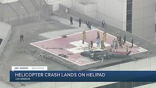 Helicopter delivering heart for transplant crashes on Los Angeles helipad