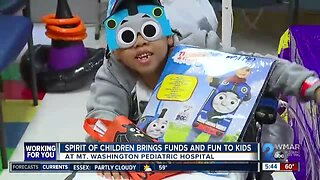 Kids at Mt. Washington Pediatric Hospital celebrate Halloween