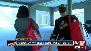 Meals On Wheels in need of volunteers in Pinellas County to deliver meals to home-bound seniors