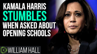 Kamala Harris STUMBLES When Asked About Opening Schools
