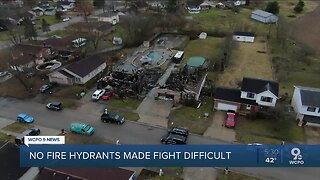 Fire destroys two houses in area without hydrant