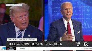 Dueling town halls for Trump, Biden