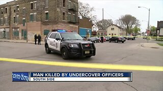 Man killed in officer-involved shooting, homicide suspect still at large