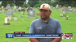 Thieves target Claremore cemeteries