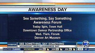 See Something, Say Something Awareness