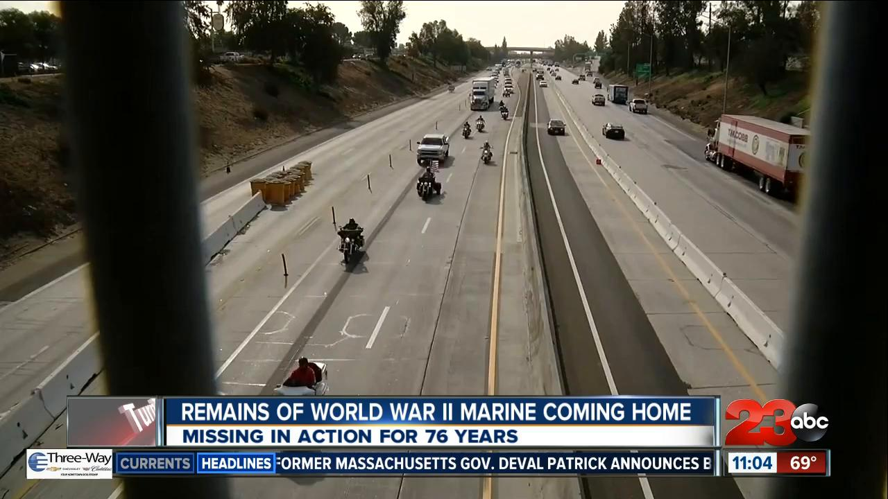 Remains of Marine coming home