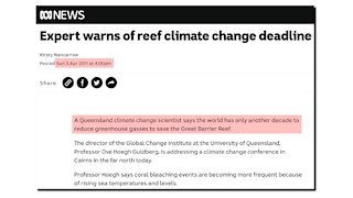 End Of The Great Barrier Reef : This Afternoon