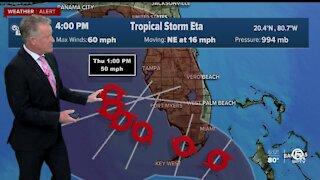 Tracking Tropical Storm Eta 11/7/20