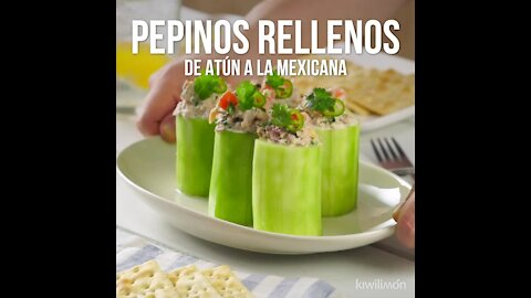 Mexican Tuna Stuffed Cucumbers