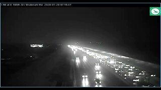 Crash causing major delays on I-90 WB before MLK