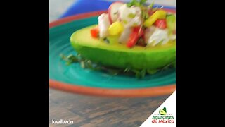 Avocados Stuffed with Ceviche and Habanero Chili