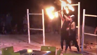 watch the guy dancing with fire
