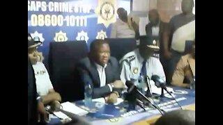 Criminals cannot live alongside citizens - SA Police Minister Mbalula (Vo4)