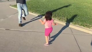 Dad tries to play with daughter, ends up in epic fail
