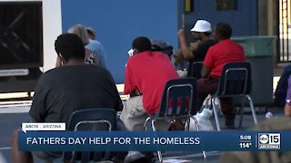 Chaplain gives message to homeless community on Father's Day