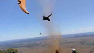 Paraglider hit by dust devil in Australia