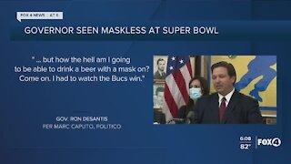 DeSantis maskless at Super Bowl
