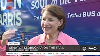 Senator Klobuchar on the trail