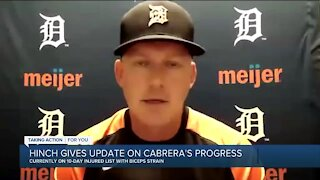 Hinch gives update on Miguel Cabrera's progress